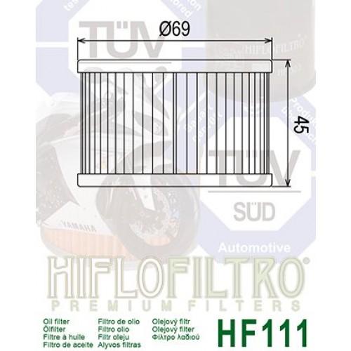 FILTRE A HUILE HIFLOFILTRO HF111