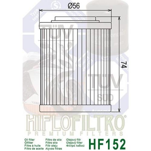 FILTRE A HUILE HIFLOFILTRO HF 152