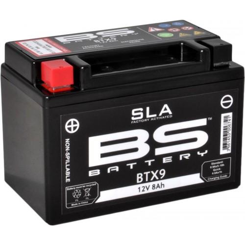 Batterie BS BTX9 SLA sans entretien activée usine