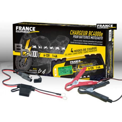 CHARGEUR DE BATTERIE 6/12V - 1-4 A - 4 MODE DE CHARGE BC 4000E