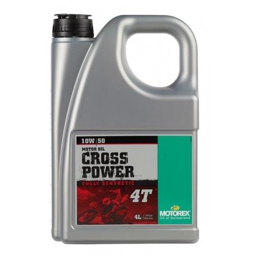 HUILE MOTEUR MOTOREX CROSS POWER 4T 10W50 - 4L