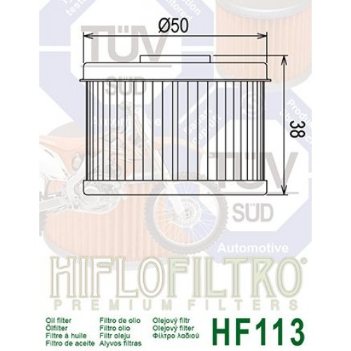 FILTRE A HUILE HIFLOFILTRO HF113