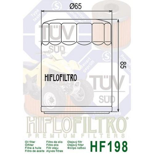 FILTRE A HUILE HIFLOFILTRO HF198