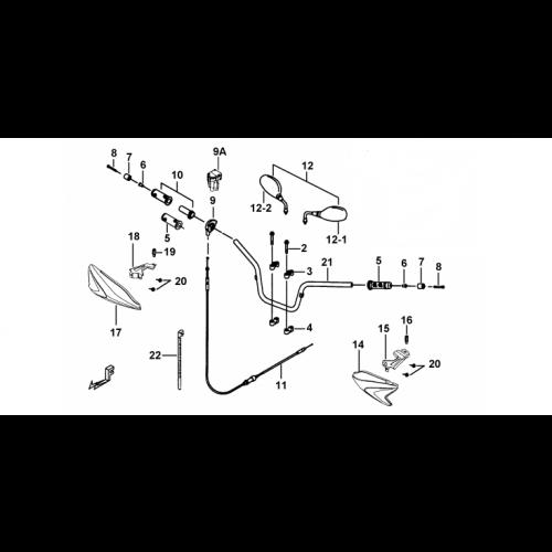 GUIDON / COMMANDES / RETROVISEURS TGB BLADE 250 (2006-2011)