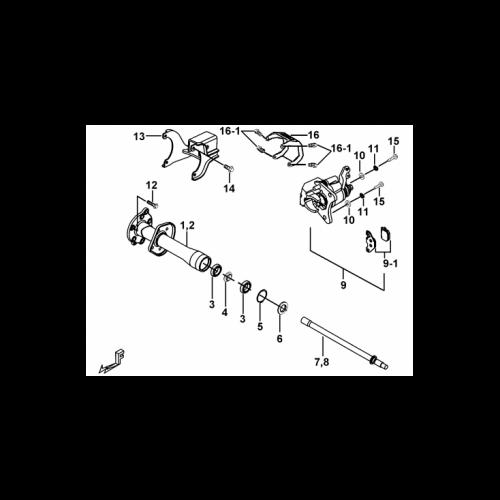MOYEU / ETRIER AR TGB TARGET 500 2009-2010
