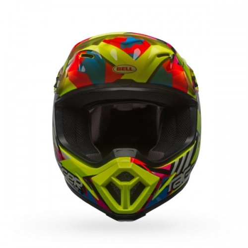 CASQUE CROSS BELL MX-9 DOUBLE TROUBLE JAUNE