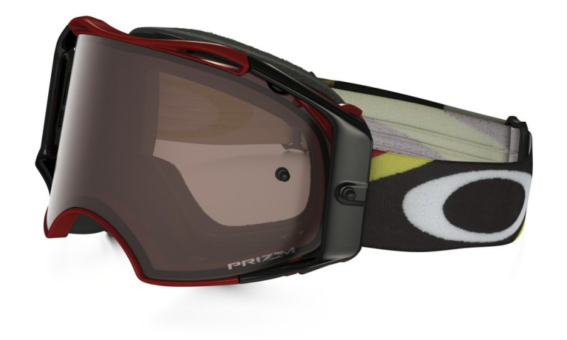 MASQUE OAKLEY AIRBRAKE MX RACER BRIGHT ROUGE HERITAGE COLLECTION ÉCRAN PRIZM MX BLACK